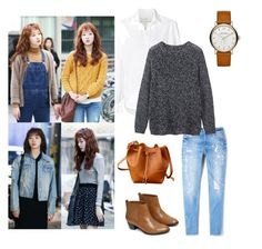 """Hong Seol"" by self-construct on Polyvore featuring Frank & Eileen, MANGO, Marc Jacobs, Toast and Warehouse"