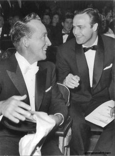 Marlon Brando with Bing Crosby at the Academy Awards, 1954    by Murray Garrett