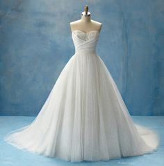 Bridal gowns inspired by Disney princesses. Love the Cinderella gown.
