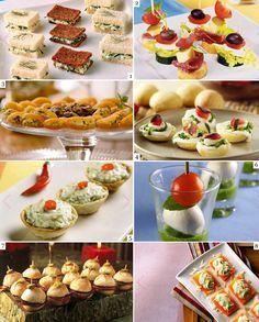 Para servir em casa, para um chá de cozinha, para uma festinha... Tapas, Yummy Drinks, Yummy Food, Catering, Party Dishes, Mini Foods, High Tea, Love Food, Food Porn