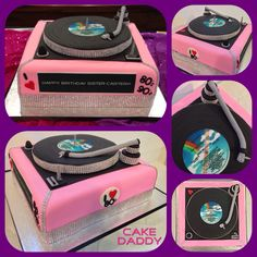 I Love The And Themed Turntable Birthday Cake