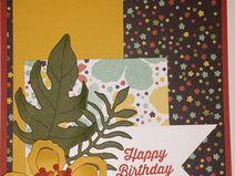 """Geburtstagskarte """"Tropische Blüte"""""""
