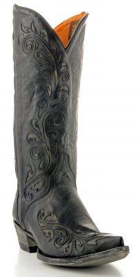 Womens Old Gringo Estere Boots Black