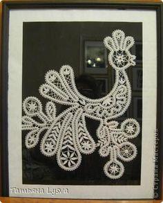 Картина панно рисунок Плетение на коклюшках Птицы Нитки фото 2