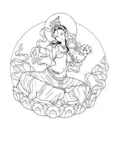 white tara tattoo - Google Search