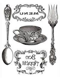 spoon and fork vintage graphic