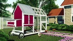 You can shift it to the location to provide natural feeding. The arch design offers free Walk In Chicken Coop, Backyard Chicken Coop Plans, Chickens Backyard, Frizzle Chickens, Silkie Chickens, Keeping Chickens, Raising Chickens, Chicken Coop Blueprints, Chicken Feeders