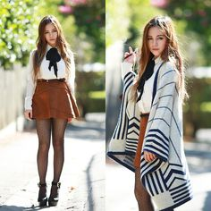 Get this look: http://lb.nu/look/7219074  More looks by Chloe T: http://lb.nu/chloe_t  Items in this look:  Sheinside Cape   #chic #preppy #street