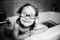 Why yes, I do wear goggles in the bathtub!