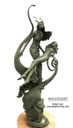 Simon Lee (Spiderzero) From 2011, Maleficent concept sculpture for our pitch to Disney