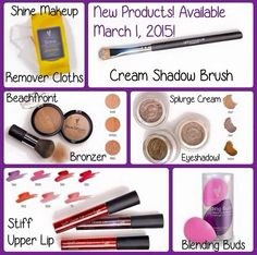 Younique! New products coming in March of 2015! Bronzers Cream Eyeshadows Cream Brush Lip Stains Make up Remover Wipes Blending Buds Www.younique3dlashesbyjess.com