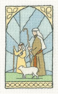 click here to view larger image of Shepherds - Christmas Cards by Susan Ryder (counted cross stitch kit)