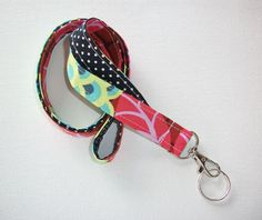 Fabric Lanyard ID Badge Holder  Lobster clasp and key by Laa766 chic / cute / preppy / fabric / patterned / accessories / for you, co-worker or school gifts / home, office decor
