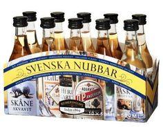 Scandinavian food online - Food from Denmark, Norway & Sweden: Nubbar 10 pack of various flavoured aquavit! Pop Up, The Swede, Sample Menu, Scandinavian Food, Swedish Recipes, Cafe Shop, Sweden, Liquor, Alcoholic Drinks