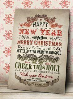 Vintage Christmas Handmade Greeting Card, Vintage Holiday Greeting Cards, Christmas Greetings Cards