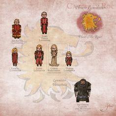 House Lannister - A.G.O.T. by GlassSiva.deviantart.com