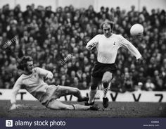 20th November 1971. Spurs reluctant winger Ralph Coates is beaten to the ball by West Brom full back Roger Minton.