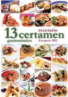 Portada Recetario XIII Certamen de Restaurantes de Zaragoza 2012.