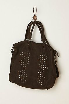 Studded Canvas Tote #anthropologie