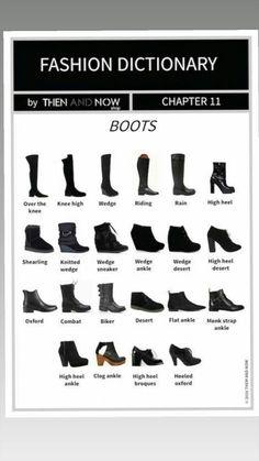 Fashion infographic : women's shoes – Fashion Models Fashion Terminology, Fashion Terms, Fashion 101, Fashion Shoes, Fashion Dresses, Fashion Hacks, 1940s Fashion, French Fashion, Daily Fashion