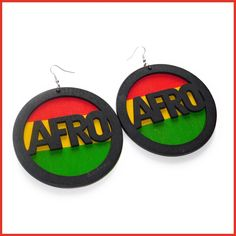 Wooden Afro Earrings Wooden Earrings, Fashion Earrings, Afro, Design, Products, Wood Earrings, Design Comics, Gadget
