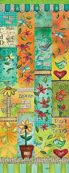 Blessed Nest Art Poles are unique vinyl art for the garden! Set of 3 poles feature whimsical designs & vivid color, simple to install, no digging, USA made