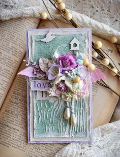 Shabby Chic Tag - brilliant spring handmade greetings card idea with bird box