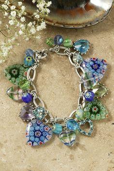 Candy Glass Hearts Charm Bracelet – Celebrate Faith