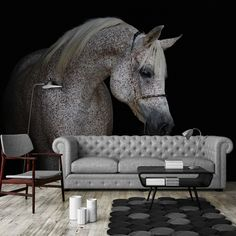 Horse Wallpaper, Vibrant Colors, Colours, Black And White Wallpaper, High Quality Wallpapers, Wall Murals, Interior Decorating, House Design, Couch