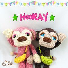 ennadesign::  Hooray! Lulu finally made her debut... the pattern debut!! The pattern of Lulu the monkey and her little brother Kona is now available at my Etsy & Ravelry if anyone is interested! (Link in bio)  ようやくルルちゃんが編み図デビューしましたパチパチ バナナバッグの編み図も入ってます あでもまずは英語版からなんですけど ご質問はいつでも大歓迎です   #amigurumipattern #amigurumi #craft #crochet #doll #monkey #crochetpattern #luluthemonkey #crochetersofinstagram #amigurumimonkey #handmade #ennadesign #sleepyeye #kawaii #あみぐるみ #編み図 #おさる #perros #ganchillo…
