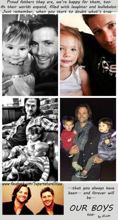 Jensen and JJ Ackles / Jared, Tom and Shep Padalecki awww <3 <3 || Jensen Ackles || Jared Padalecki #J2 kids