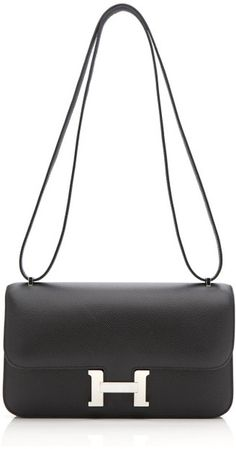 24cm Black Epsom Leather Constance Elan