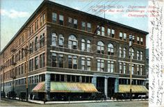 "Postcard of the Miller Brothers Department Store in downtown Chattanooga: ""The store that made Chattanooga famous.""  Postmarked 1909."