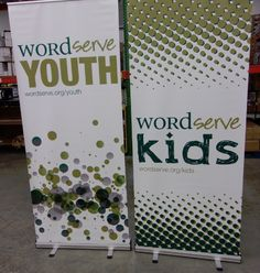 WordServe Church in Fulshear, TX highlighted their youth and kids ministry with custom designs on our retractable banners.