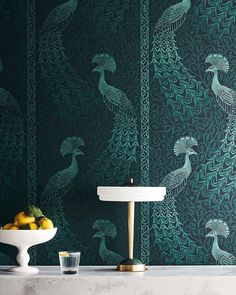 Buy Cole and Son Pavo Parade - Free Next Day Delivery, Art Deco Living Room, Cole And Son Wallpaper, Stunning Wallpapers, Wallpaper Calculator, Inspirational Wallpapers, Latest Colour, Wallpaper Online, Photo Wallpaper, House Painting