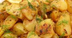 Fashion, Beauty, Wellness, Entertainment, and Lemon Roasted Potatoes, Cooking Recipes, Healthy Recipes, Potato Recipes, Potato Salad, Recipies, Greek, Food And Drink, Appetizers