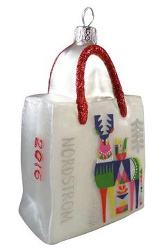 Nordstrom at Home 'Stag' Glass Shopping Bag Ornament