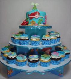 Under The Sea With Ariel - Cake & Cupcake Tower