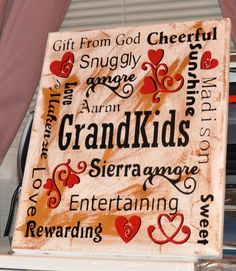 Grandkids Subway Art