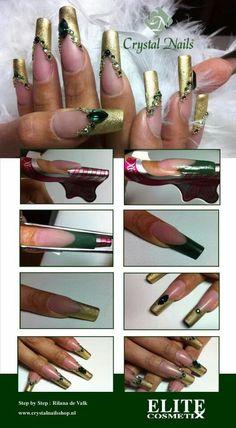 Esmalte dorado para usar