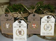 Woodland favor tags woodland favors Woodland by MagicPartyDesigns