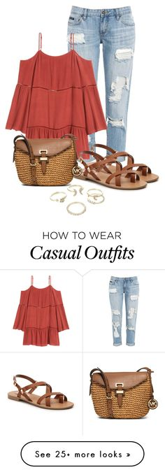"""""""Cute and Casual"""" by amyahkelly on Polyvore featuring Steve Madden, MICHAEL Michael Kors and Lipsy"""