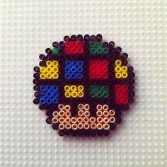 Rubik's cube mushroom hama beads by hadavedre - Pattern: https://de.pinterest.com/pin/374291419013296710/