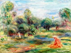 Landscape at Cagnes Artwork by Pierre Auguste Renoir Hand-painted and Art Prints on canvas for sale,you can custom the size and frame