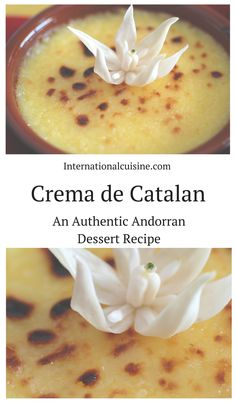 This Crema de Catalan recipe is the cousin to creme Brulee.  It is a custard with a citrus twist.  A lovely Andorran Dessert.
