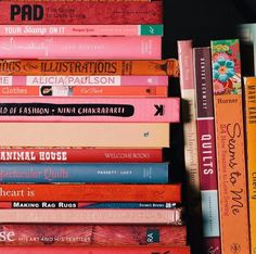 Pink books cover for love