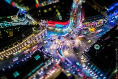 Futuristic Views of London Shot From a Helicopter at Night by Vincent Laforet