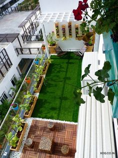 A Chettinad Style Apartment In Bangalore Dress Your Home Best Interior Design An… - Balkon Dekoration Small Balcony Design, Small Balcony Garden, Small Balcony Decor, Small Terrace, Small Garden Design, Condo Balcony, Modern Balcony, Balcony Deck, Terrace Garden Design