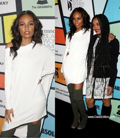 Sierra McClain with China McClain on the Red Carpet at the Essence #BlackWomenInMusic Event | 020917 | I Do Not Own These Images