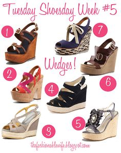 Tuesday Shoesday Week #5: Wedges!